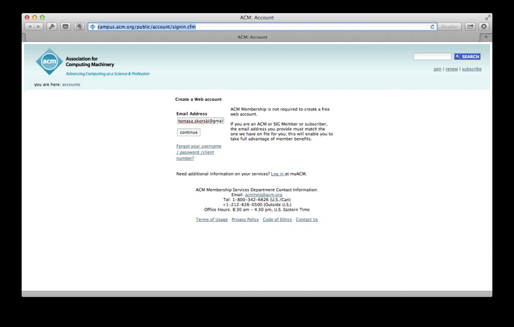 ACM- Account